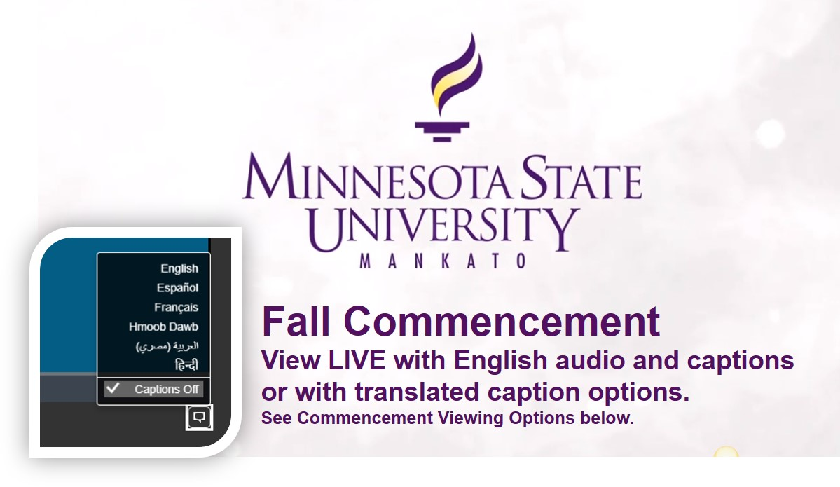 Fall Commencement View LIVE with English audio and captions 